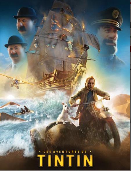 Vente affiche Les aventures de Tintin _ Le Secret de la Licorne_ acheter le poster pas cher Les aven